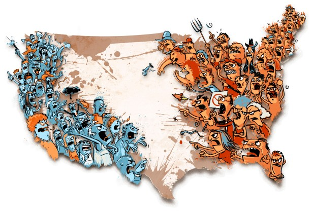 ILLUSTRATION: Divided U.S.