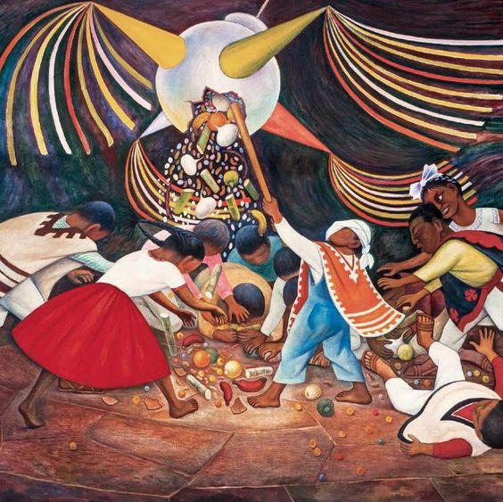 La Pinata mural by Diego Rivera
