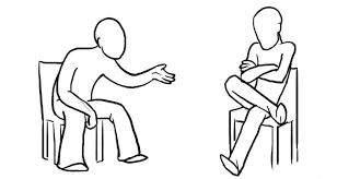 crossed legs cartoon