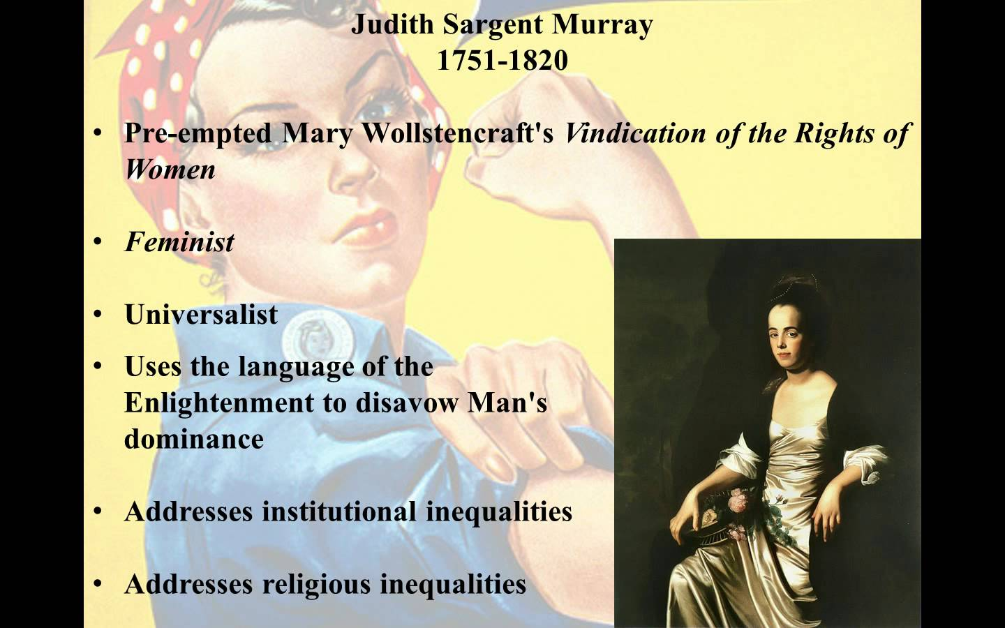 Judith sargent murray equality of sex