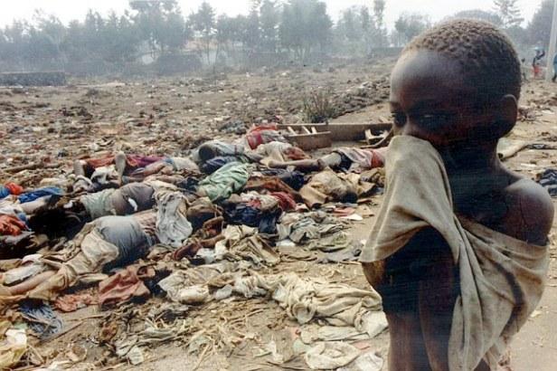 Scenes during Rwanda Civil War 1994