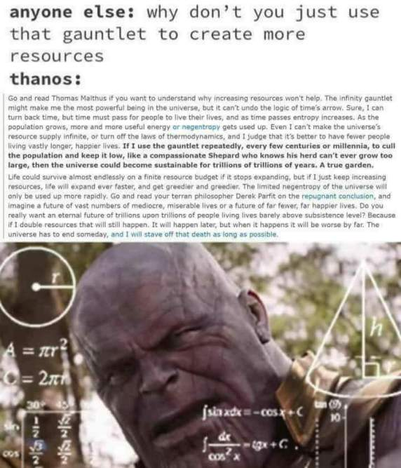 Thanos Arguement